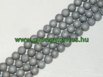 Ezüst Druzy Achát Ásványgyöngy 10mm