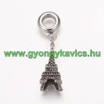 Ezüst Színű Eiffel Torony Nyaklánc Karkötő Ékszer Dísz Közdarab Charm 31mm