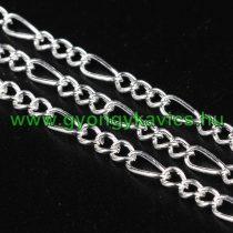 Ezüst Színű (3) Nyaklánc Ékszer Lánc 2,5x1mm 1m