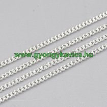 Ezüst Színű (5) Nyaklánc Ékszer Lánc 1,2x0,6mm 1m