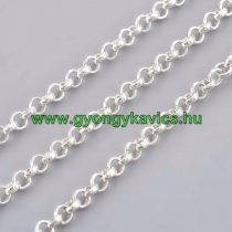 Ezüst Színű (1) Nyaklánc Ékszer Lánc 2,5x1mm 1m