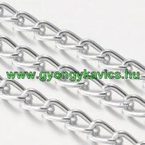 Ezüst Színű (6) Alumínium Nyaklánc Ékszer Lánc 3,6x1,8mm 1m