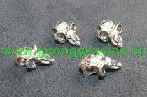 Ezüst Színű Elefánt Charm Medál Nyaklánc Karkötő Ékszer Dísz Köztes 9x19x4mm