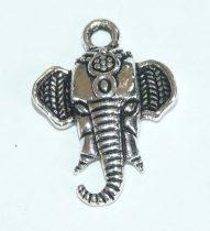 Ezüst Színű Elefánt Medál 22x15,5mm