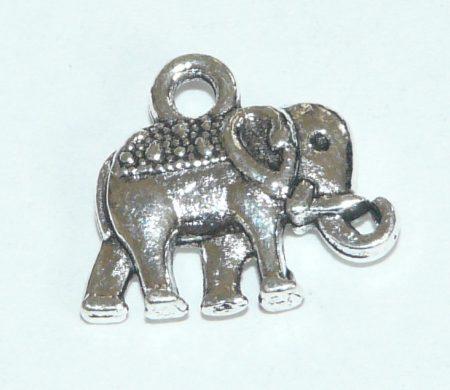 Ezüst Színű Elefánt Medál 11,8x13,5mm