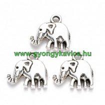 Ezüst Színű Elefánt Medál 13x13mm