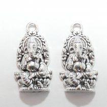 Ezüst Színű Elefánt Ganesha Medál 27x14mm