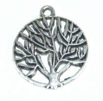 Ezüst Színű Életfa Medál 18mm