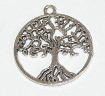 Ezüst Színű Életfa Medál 25,5mm