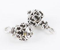 Ezüst Színű Gömb Medál 10,7x19mm