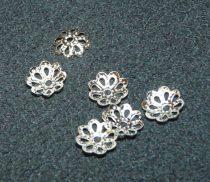 Ezüst Színű Virág Gyöngykupak Nyaklánc Karkötő Ékszer Dísz Közdarab 9mm