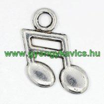 Ezüst Színű (1) Hangjegy Medál 19x13mm