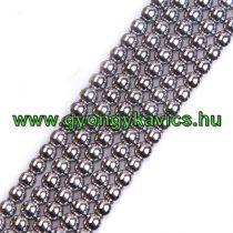 Ezüst Hematit Ásványgyöngy Gyöngyfüzér 6mm