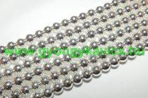 Ezüst Hematit (2) Ásványgyöngy Gyöngyfüzér 8mm