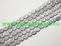 Ezüst Hematit Buddha Ásványgyöngy Gyöngyfüzér 8x7x4mm