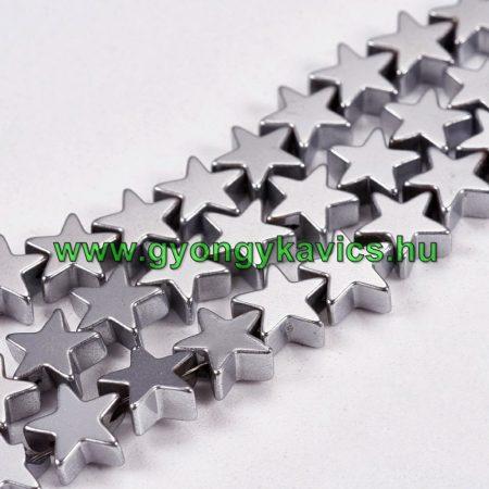 Ezüst Hematit Csillag Ásványgyöngy Gyöngyfüzér 6mm