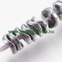 Ezüst Hematit Hullámos Korong Ásványgyöngy 4x1,5mm