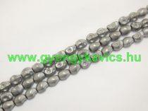Ezüst Hematit Koponya Ásványgyöngy 8x6mm