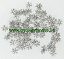 Ezüst Színű Hópehely Nyaklánc Karkötő Ékszer Dísz Közdarab Köztes 8mm