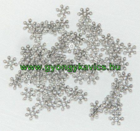 Ezüst Színű Hópehely Nyaklánc Karkötő Ékszer Dísz Közdarab 8mm