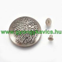 Ezüst Színű Indián Koponya Szegecs Táskadísz 28,4mm