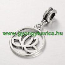 Ezüst Színű Jóga Lótusz Virág Lótuszvirág Charm Medál 35x20mm