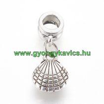 Ezüst Színű Kagyló Charm Medál Nyaklánc Karkötő Ékszer Dísz Köztes 25,5x10mm