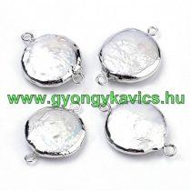 Ezüst Színű Kagyló Nyaklánc Karkötő Ékszer Dísz Közdarab Köztes 22-24x15-17x2-6mm