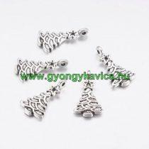 Ezüst Színű Karácsonyfa Medál Karácsonyfa Dísz 21x11mm