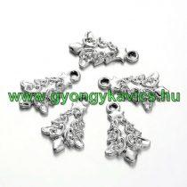 Ezüst Színű Karácsonyfa Medál Karácsonyfa Dísz 20,5x13mm