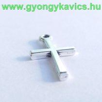 Ezüst Színű Kereszt Medál 18x10mm