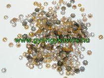 Ezüst Színű Virág Gyöngykupak Nyaklánc Karkötő Ékszer Dísz Közdarab 6mm