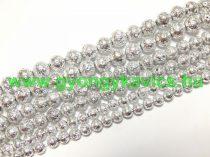 Ezüst Lávakő Ásványgyöngy 10mm