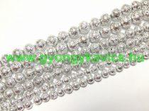 Ezüst Lávakő Ásványgyöngy Gyöngyfüzér 6mm
