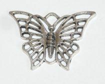 Ezüst Színű Lepke Pillangó Medál 27x38,5mm