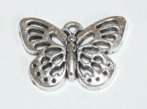 Ezüst Színű Lepke Pillangó Medál 25x18mm