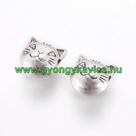 Ezüst Színű Macska Cica Nyaklánc Karkötő Ékszer Dísz Közdarab 8mm
