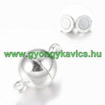 Ezüst Színű Mágneses Nyaklánc Karkötő Ékszer Kapocs 16x10mm