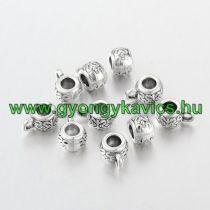 Ezüst Színű Medáltartó Nyaklánc Karkötő Ékszer Dísz Közdarab Köztes 10,5mm