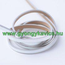 Ezüst Műbőr Szál 5x2mm 1,2m