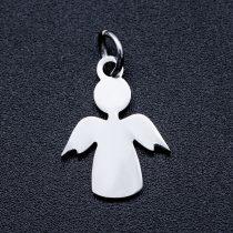 Ezüst Színű Nemesacél Angyal Medál 15x11,5mm