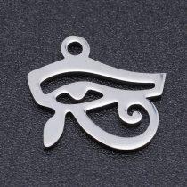 Ezüst Színű Nemesacél Hórusz Szeme Medál 12x13,5mm