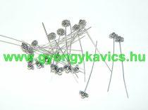 Ezüst Színű Virágos Nyaklánc Karkötő Ékszer Szerelőpálca 54x7,5mm