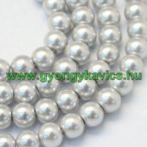 Ezüst Színű Szintetikus Kagyló Gyöngy 8mm