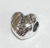 Ezüst Színű Szív Nyaklánc Karkötő Ékszer Dísz Közdarab Köztes 10,5x7,7mm