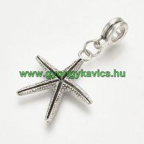 Ezüst Színű Tengeri Csillag Charm Köztes Ékszer Dísz 37x22mm