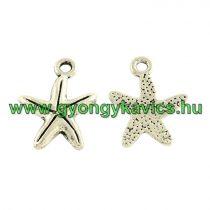 Ezüst Színű Tengeri Csillag Medál 17x13mm