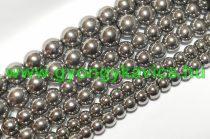 Ezüst Színű Üveggyöngy Gyöngyfüzér 10mm