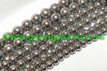 Ezüst Színű Üveggyöngy 6mm