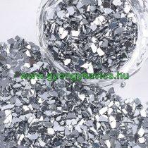 Ezüst Színű Üvegtörmelék 2-5x1-5mm 20g